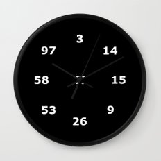 Pi Clock 3.1415926535897 Wall Clock