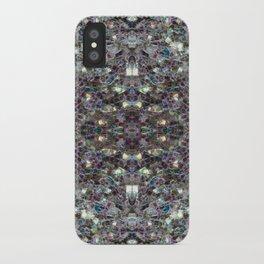Sparkly colourful silver mosaic mandala iPhone Case