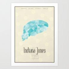 Indiana Jones And the Kingdom Of the Crystal Skull - minimal poster Art Print
