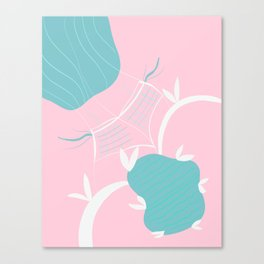 Babes at the Poolside #1 #painting #wall #decor #art #society6 Canvas Print