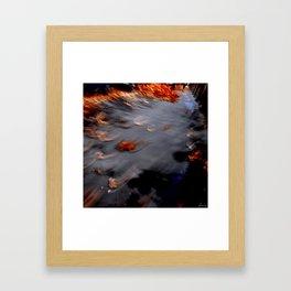 autumn, flies away Framed Art Print