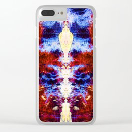 Her Holiness the Electrified Alien Clear iPhone Case