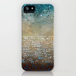 Landscape Dots - Turquoise iPhone Case