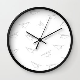 Paper Airplanes Wall Clock