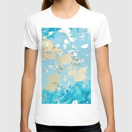 Gold Abstract Modern Painting T-shirt