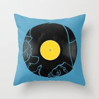 500 days of summer Throw Pillows featuring (500) Days of Summer by Bill Pyle