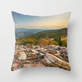 Spruce Knob Mountain Sunset Throw Pillow