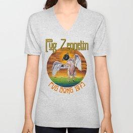 Pug Zeppelin Unisex V-Neck