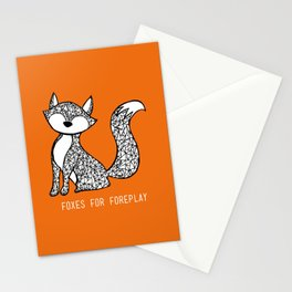 Foxes for Foreplay Stationery Cards