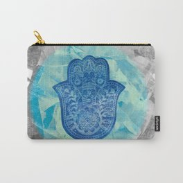 Indigo Hamsa Carry-All Pouch
