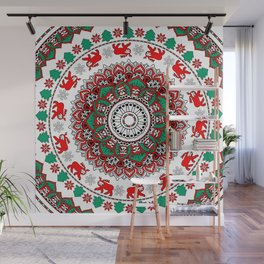 Mandala Christmas Sloth Wall Mural