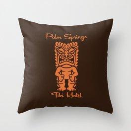 Tiki Hotel Logo Throw Pillow