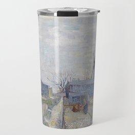 Montmartre - Windmills and Allotments by Vincent van Gogh Travel Mug