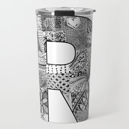 Cutout Letter R Travel Mug