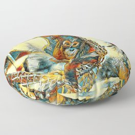 AnimalArt_OrangUtan_20170605_by_JAMColorsSpecial Floor Pillow