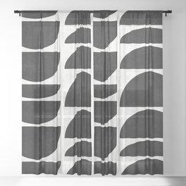 Mid-Century Modern Pattern No.9 - Concrete Sheer Curtain