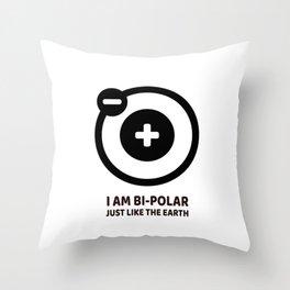 Bi-polar Throw Pillow