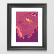 They are here! Framed Art Print