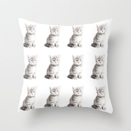 Kittens Forever Throw Pillow