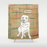 best friend Shower Curtains featuring Best Friend  by Tammy Kushnir