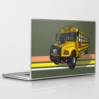 school Laptop & iPad Skins featuring School bus by mangulica