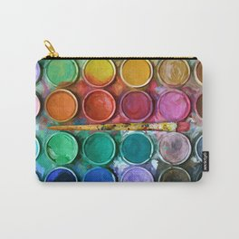 Watercolor Rainbow Abstraction palette iPhone 4 5 6 7, pillow case, mugs and tshirt Carry-All Pouch