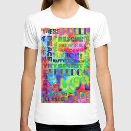 Flower Power Words Of Life T-shirt