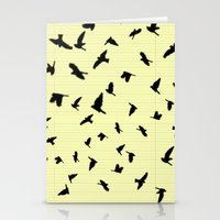 notebook Stationery Cards featuring Flying Birds on a notebook by Fun & Art
