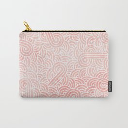 Rose quartz and white swirls doodles Carry-All Pouch