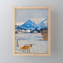 Jugend-Munich illustrated weekly for art and life - 1906 Cold Climate Snow Mountains Fox Framed Mini Art Print