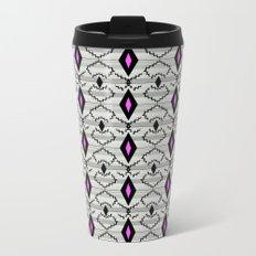 Art Deco. Grey, black ornament Metal Travel Mug