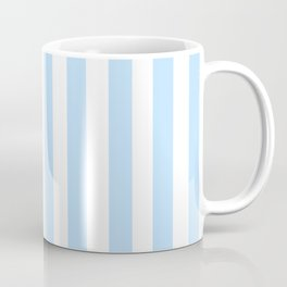 Classic Seersucker Stripes in Blue + White Coffee Mug