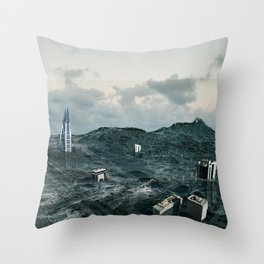 Survival of the tallest Throw Pillow