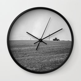 Winter farming Wall Clock