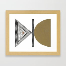 Geometric Shapes with Gold, Copper and Silver Framed Art Print