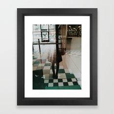 ghost selfie Framed Art Print