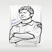 stargate Shower Curtains featuring John Sheppard by Samy