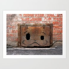 Graffiti Mustache Art Print