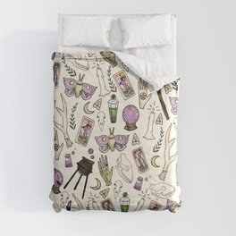 WITCH pattern • in bone Comforters