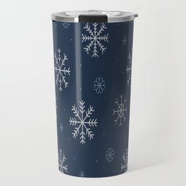 Artistic snowflakes pattern Travel Mug