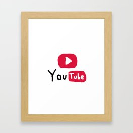 Only for Youtuber - YouTube lover best design Framed Art Print