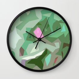 Abstract Camouflage Wall Clock
