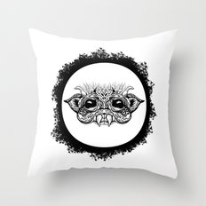 Half Creature Throw Pillow