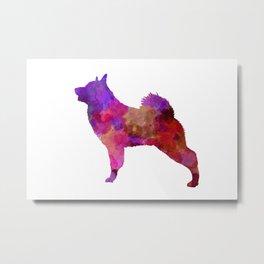 Norwegian Elkhound in watercolor Metal Print