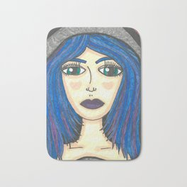 Fur Hooded Girl Bath Mat