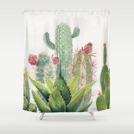 Cactus Watercolor Shower Curtain