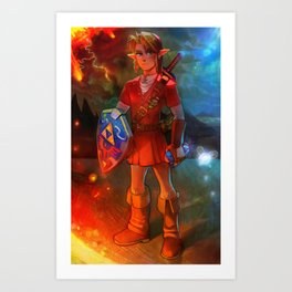 Hero of Time - Fire Temple Art Print
