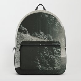 Forest Road In Winter Backpack