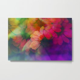 Echinacea photographed through a prism Metal Print