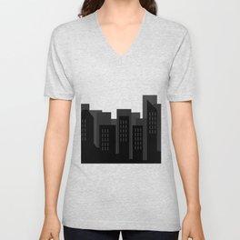 city skyline Unisex V-Neck